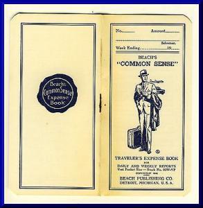 Vintage Beach's Common Sense Traveler's Expense Book, 1...