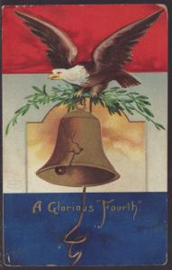 A Glorious Fourth of July,Eagle,Bell Postcard