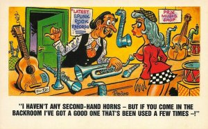 I Havent any Second-Hand Horns I've got a Good One Artist Pedro Risque Postcard