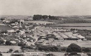 Two Chimneys Caravan Park Praa Sands Cornwall Postcard