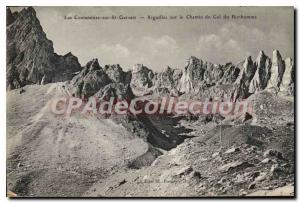 Old Postcard On The CONTAMINATED St Gervais Needles man neck