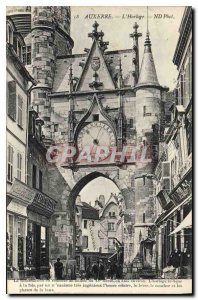 Postcard Auxerre Old Clock