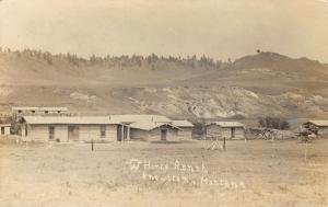 Knowlton Montana~Horse Ranch Cabins~Log Piles~Branding Symbol~1911 RPPC