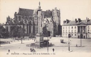 Place Louis XVI Et La Cathedrale, NANTES (Loire Atlantique), France, 1900-1910s