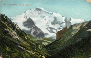 The Jungfrau Swiss Alps Mountains Postcard