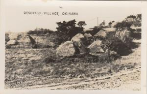 RP; OKINAWA, Japan, 1940s; Deserted Village during WW II