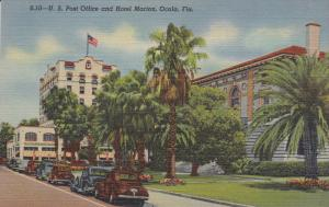 OCALA, Florida, 1930-1940's; U.S. Post Office And Hotel Marion