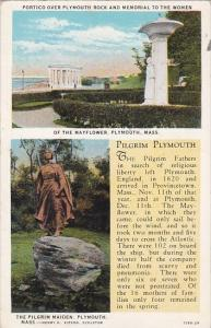 Massachusetts Plymouth Portico Over Plymouth Rock And Memorial To The Women T...