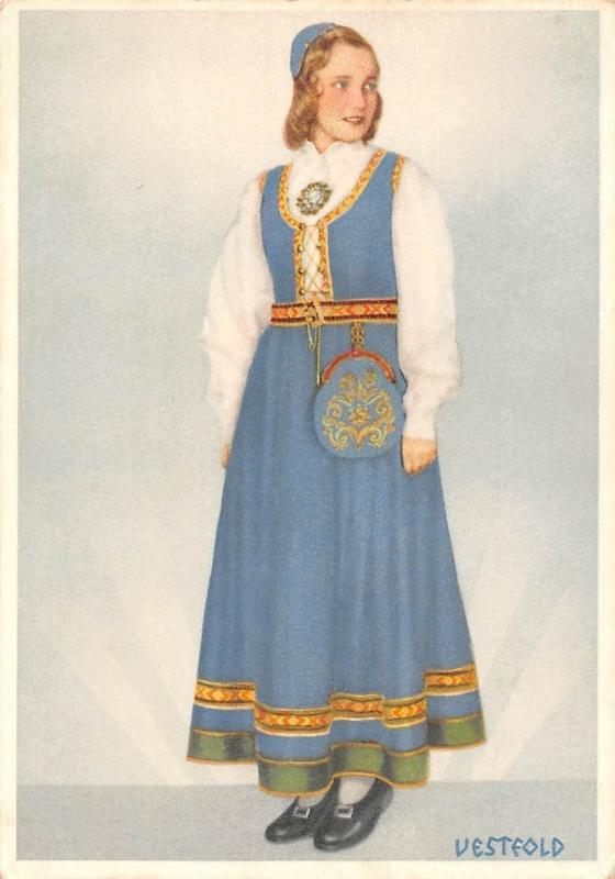 Norway Vesteold Woman Traditional Costume