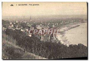 Old Postcard Le Havre General view