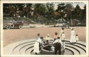 Marion IN Matters Park Deep Spring c1920 Postcard