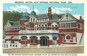 Imperial Baths House, Hot Springs National Park, Arkansas AR, White Border