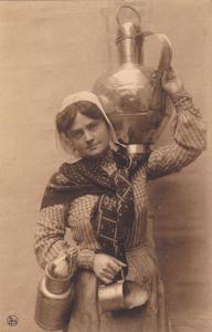 Dairy Woman Carring A Milk Jar #3 , Laitiere Flamande, Belgium, 1900-1910s