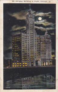 Illinois Chicago Wrigley Building At Night 1925