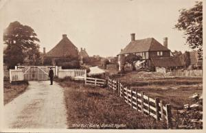 SMALL HYTHE KENT UK~THE TOLL GATE PHOTO POSTCARD 1916