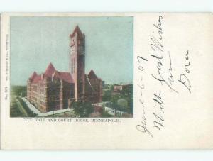 Pre-1907 CITY HALL AND COURT HOUSE Minneapolis Minnesota MN Q1805