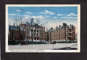 ME Central Maine General Hospital Lewiston Maine Vintage Postcard