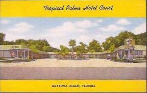 FL Daytona Tropical Palms Hotel Court