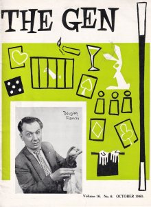 Douglas Francis The Gen 1960 Magic Circle Magicians Magazine