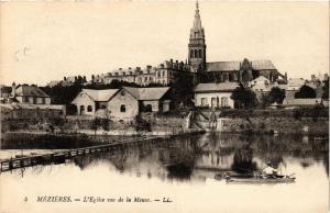 CPA Méziéres L'Eglise vue de la Meuse (646777)
