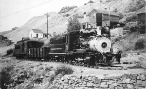 1940s Sanborn Pioneer Train Central City Colorado RPPC real photo postcard 11175