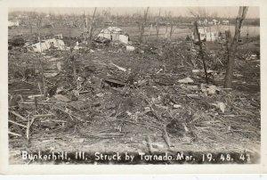 RP: BUNKERHILL , Illinois , 1948 ; Tornado debris field