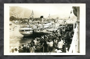 035 - STEAMER Arriving at AVALON California 1950s Real Photo Postcard