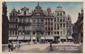 Belgium Bruxelles Grand Place et Maison des Corporations Real Photo