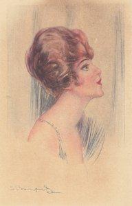 Art Deco ; BOMPARD ; Female Head Portrait #2 , 1910-20s