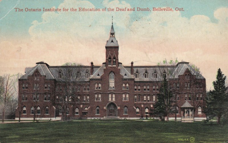 BELLEVILLE, Ontario, 00-10s; The Institute For The Education Of Deaf And Dumb