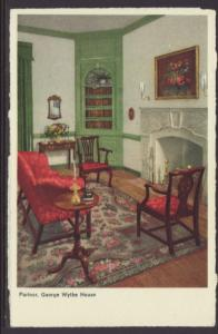 Parlour,George Wythe House,Williamsburg,VA Postcard