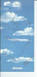 MC-146 - Alitalia Airlines Menu Di Bordo, 1999 printed in several languages