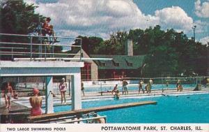 Illinois Saint Charles Two Large Swimming Pools Pottawatomie Park