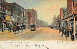 NEW YORK CITY~WEST 125th STREET~1905 ROTOGRAPH TINTED PHOTO POSTCARD