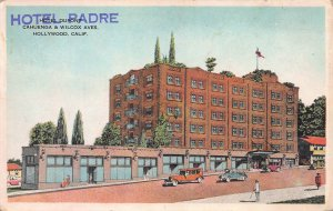 Hotel Padre Overprint on Hotel Dupont, Hollywood, CA, Early Postcard, Unused