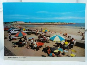 Vintage Postcard Beach Cafe Patio Pembroke Bay Guernsey Channel Isles 1970s