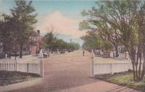 Virginia Williamsburg Duke Of Gloucester Street From Campus Of The College Of...