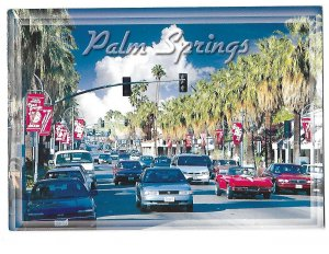 Palm Springs California Downtown Corvette 4 by 6 Card