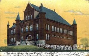 Van Ranke Library Syracuse NY Postal Used Unknown