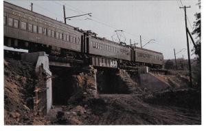 Erie Lackawanna Electric Train Maple St Overpass 1964 NJ