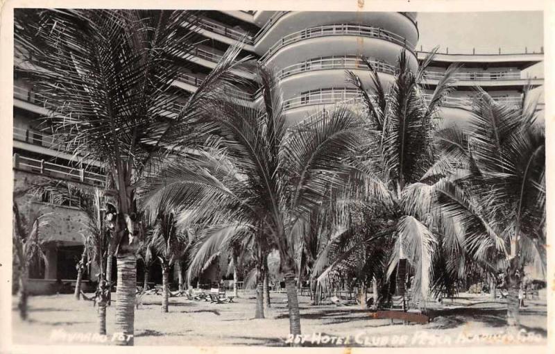 Acapulco Mexico Hotel Club de Pesco Real Photo Vintage Postcard JA4741575