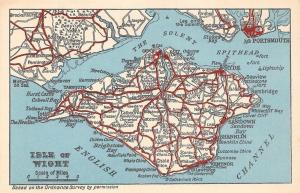 The Solent, Spithead, English Channel Map Milford on Sea