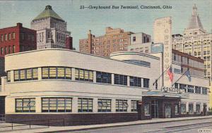 Greyhound Bus Terminal Cincinnati Ohio Curteich