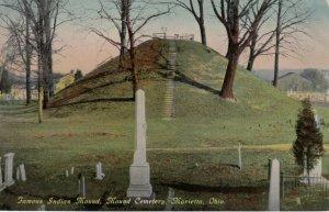 Marietta , Ohio , 1900-10s ; Indian Mound , Mound Cemetery