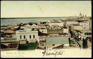 argentina, ROSARIO DE SANTA FE, Vista Parcial (ca. 1899)