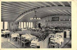 Zurich Switzerland 1950 Postcard Haus Zum Ruden Restaurant Interior