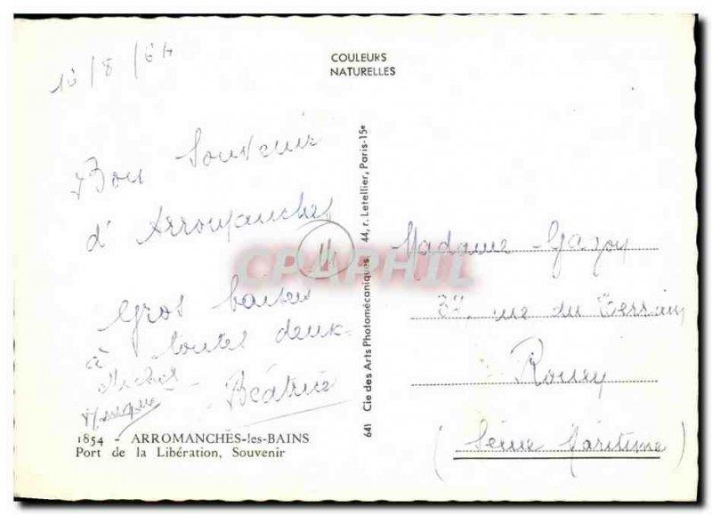Modern Postcard Arromanches les Bains Port of Liberation Memorial