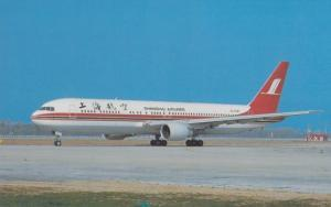 Boeing 767-36D B-2567 Plane of Shanghai Airlines at Beijing Airport Postcard