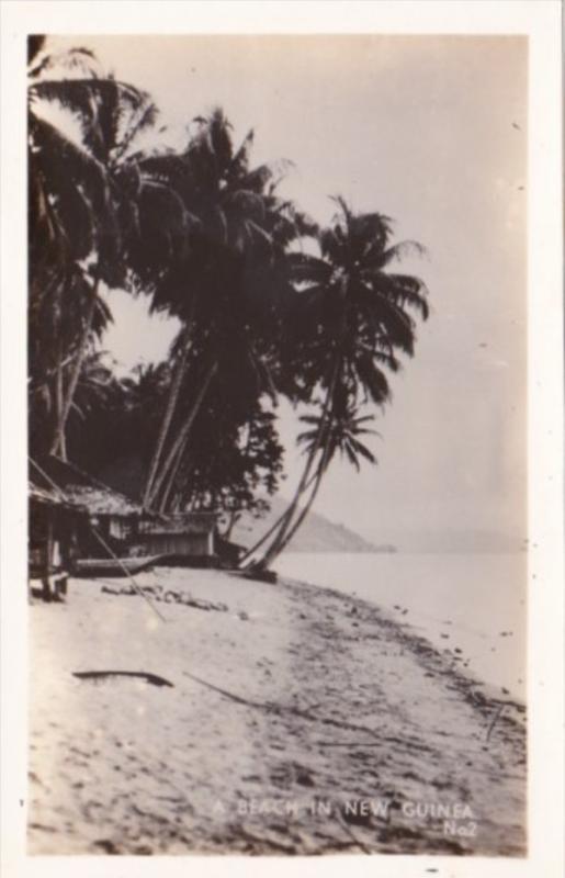 New Guinea Beach Scene Real Photo