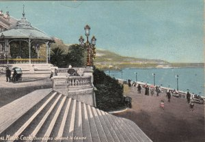 P1700 old unused postcard monte carlo-terrasses devant le casino monaco